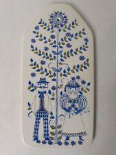 "Vintage Rare Turi-Design Norway Lotte Plaque Woman & Man Flowers Large 12.5"""