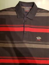 Paul & Shark Herren Pullover Sweater Polo Fleece Shirt Gr. L schwarz rot