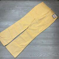Vintage 1976 Levi's Durawale Plus Corduroy Bell Bottoms Pants Yellow 38x34 P65