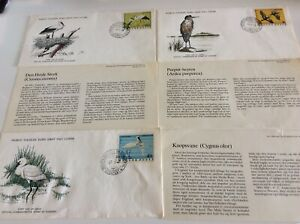 World Wildlife Fund FD Covers,  Storks/Herons Nos  37,38,40 From Hungary