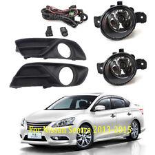 Fog Lamps Cover Bezel Wiring Kit for Nissan Sentra 2013-2015 Front Bumper Lights