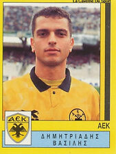 N°015 DIMITRIADIS AEK ATHENS GREECE PANINI GREEK LEAGUE FOOT 95 STICKER 1995