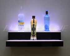 "24"" 2 Step WALL-MOUNT LED LIGHTED BAR SHELF, Home/Bar Liquor Bottle Display Rack"