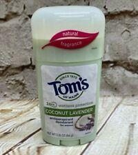Tom's of Maine Women's Stick Natural Antiperspirant Coconut Lavender 2.25 oz