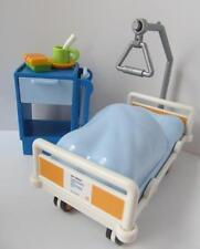 Playmobil Hospital Furniture: lit pour adultes Taille Figure & De Chevet Armoire Nouveau