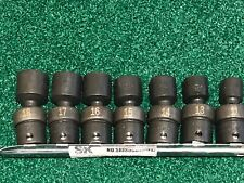 "SK Tools 3/8""dr 7pc Swivel Impact Metric Socket Set $229 Retail Made in USA"