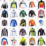 Mens Cycling Jersey long sleeve Bike Shirt Outdoor Road Racing sportswear S11