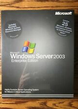 MICROSOFT Windows Server 2003 Enterprise Edition 25 CAL NFR NEW Sealed