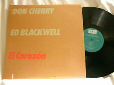DON CHERRY & ED BLACKWELL El Corazon ECM 1230 vinyl LP
