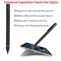 Universal Thin Tip Capacitive Touch Pen Stylus For iPad iPhone Samsung Tablet AM