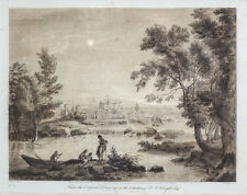 Richard Earlom (18th C) Mezzotint Etching after Claude Lorrain (17th C)