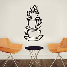 Cuisine Coffee House tasse autocollant amovible murale