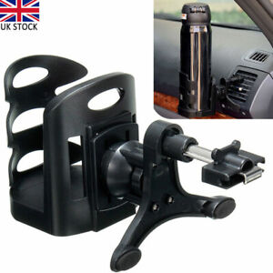 Universal Car Air Vent Mount Cup Bottle Drinks Beverage Can Holder Stand Black