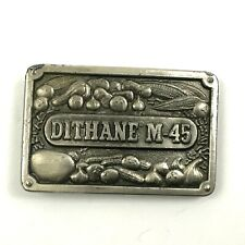 VINTAGE Dithane M-45 Fungicide Farmers Belt Buckle Agriculture Gardening USA