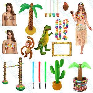 Tropical Hawaiian Luau Garden Party BBQ Tiki Decorations Beach Pool Accessories