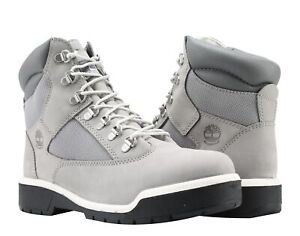 Timberland 6-Inch Waterproof Field Boot Cement Grey Nubuck Men's Boots A1JPJ
