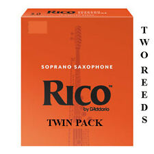 More details for twin pack rico orange soprano sax by d'addario strength 1.5 2 2.5 3 3.5 free del