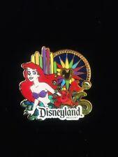 BNIP Walt Disney Travel Club Disneyland Sebastian and Ariel Pin & Lanyard Set