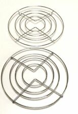 1 x CHROME HOT PAN POT STANDS STAINLESS STEEL ROUND TRIVET HOLDER KITCHEN