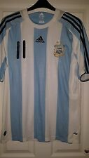 Homme Football Shirt-Argentine équipe nationale-Adidas-Home 2007-09 - Tevez 11