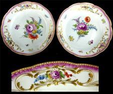 C1774-1814 COPPIA Antico Marcolini periodo piastre di porcellana di Meissen/CARICABATTERIE