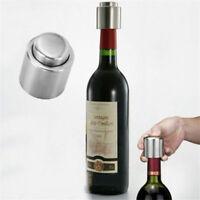 Handy Stainless Steel Vacuum Wine Bottle Stopper Plug Bottle Cap Pump Sealer NEW