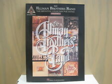 Allman Brothers Band Definitive Collection Guitar Tablature SheetMusic Song Book