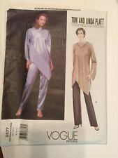Vogue Sewing Pattern 2577 size 12 14 16  Ladies Diagonal Top & Trousers