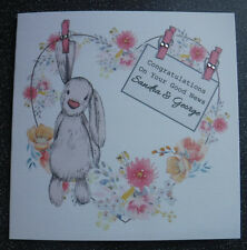 HANDMADE PERSONALISED HAVING A BABY/PREGNANCY CONGRATULATIONS CARD,GOOD NEWS