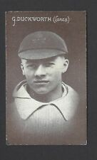 AUSTRALIAN LICORICE - ENGLISH CRICKETERS (BLUE BACK) - G DUCKWORTH, LANCASHIRE