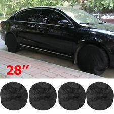 Set of 4 RV Wheel Tire Covers Auto Truck Car Camper Trailer 28'' Diameter Tyre