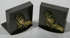 Pr Bronze Mid Century Religious Bookends Praying Hands