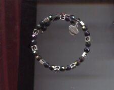 ALEX & ANI silver blackish purple wrap bracelet vintage 66