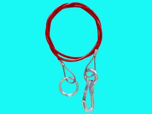 Anhänger Abreißseil 1m Sicherungsseil Fangseil Bremsseil mit Haken& Ring