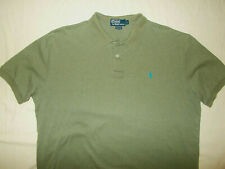 RALPH LAUREN SHORT SLEEVE OLIVE GREEN POLO SHIRT MENS LARGE EXCELLENT CONDITION