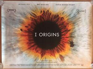 I Origins, Double Sided Original UK Quad Sheet Movie Poster