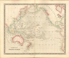 1843 ANTIQUE MAP- DOWER - CHART OF THE PACIFIC OCEAN