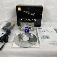 NIKON COOLPIX L11 Digital Camera in Original Box, Silver +  1GB SD Memory Card