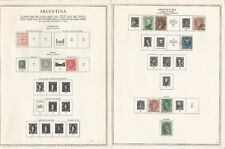 Argentina Collection 1858 to 1964 on 85 Minkus Specialty Pages, Loaded Stamps