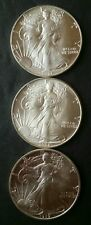 1987, 1988, and 1989 $1 American Silver Eagle Dollars