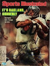 Mark Van Eeghen Autographed Jan 2, 1978 Sports Illustrated W/ SB XI & XV Ins SGC