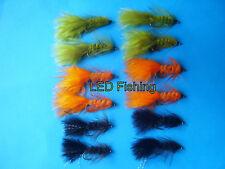 061 6 x Longshank goldhead NINFA Vetro Marrone mosche ninfa taglia 10