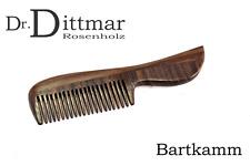 Dr. Dittmar Eleganter Bartkamm Rosenholz Palisander handgefertigt Germany