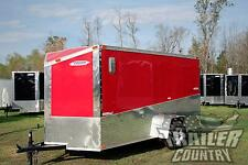 NEW 2018 6 x 12 Custom Slant V - Nose Enclosed Motorcycle Cargo Trailer w/ Ramp