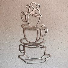 Coffee Cups Stacked Metal Art Decoration 13 Skilwerx Plasma Cut kitchen
