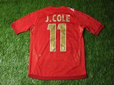 ENGLAND # 11 J. COLE 2006/2008 FOOTBALL SHIRT JERSEY AWAY UMBRO ORIGINAL YOUNG