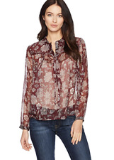 Lucky Brand Sheer Peasant Blouse. Size S. Orig $90. NWT