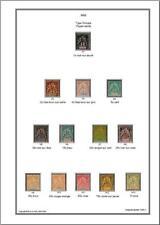 Album de timbres Sultanat d'Anjouan1892-1902 à imprimer