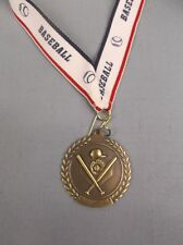 team lot of 10 Gold Baseball medals with theme neck drape trophy