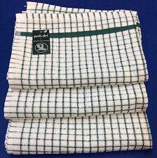 Samuel Lamont Poli-Dri Kitchen/Tea Towels White/Hunter 3 Piece Set 100% Cotton